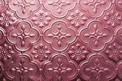 Texture sans joint colorée Fond en verre Formes en verre florales d'abrégé sur modèle de mur de la décoration 3D de mur intérieur Photo libre de droits
