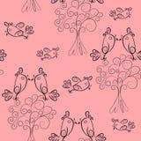 Texture sans joint d'ensemble pattern.cute de défilement d'oiseau Image libre de droits