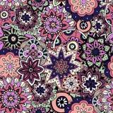 Texture sans joint de configuration Éléments indiens, arabes, turcs de style Photographie stock