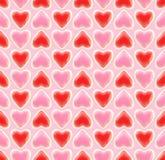 Texture sans joint de fond faite de coeurs d'amour Image stock