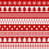 Texture sans joint de Noël Image libre de droits