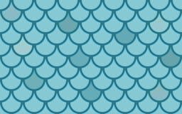 Texture sans joint de vecteur avec des échelles de poissons Images stock