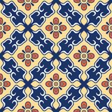 Texture sans joint de vecteur Beau modèle coloré pour la conception et mode avec les éléments décoratifs portugais illustration de vecteur