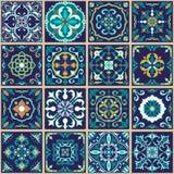 Texture sans joint de vecteur Beau modèle de patchwork pour la conception et mode avec les éléments décoratifs Photographie stock libre de droits