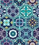 Texture sans joint de vecteur Beau modèle méga de patchwork pour la conception et mode avec les éléments décoratifs illustration libre de droits