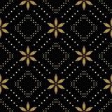 Texture sans joint de vecteur noir avec des losanges Photo stock
