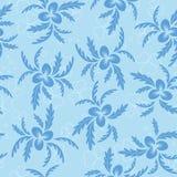 Texture sans joint florale avec les centrales bleues illustration libre de droits