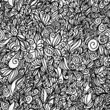 Texture sans joint noire et blanche de carrelage Image stock