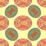 Texture sans joint Soustrayez l'image Zentangle coloré illustration de vecteur