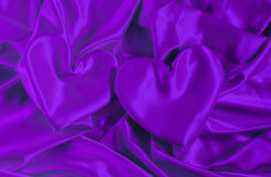 Texture satin cloth with the image of heart Royalty Free Stock Image