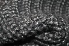Texture of a scarf. Grey, winter, cold, autumn, fall royalty free stock image
