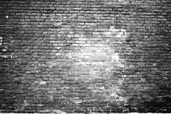 Texture of the scorched old white brick wall Stock Image