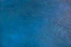 Texture of scratched blue genuine leather. For background or graphic resources Royalty Free Stock Photography