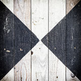 Texture of scratched painted black and white. Wooden floor rhombus styled Royalty Free Stock Images