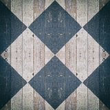 Texture of scratched painted black and white. Wooden floor rhombus styled Stock Photo