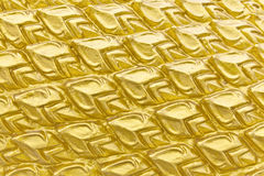 Texture sculpture of Golden Dragon Scales Royalty Free Stock Photography