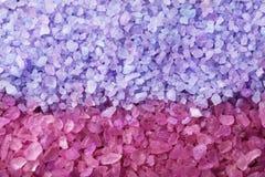 Texture of sea salt, closeup stock images