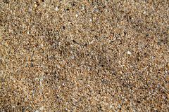 The texture of the sea sand Royalty Free Stock Photo