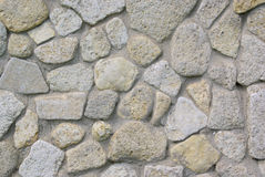 Texture of sea stone coated wall Stock Image
