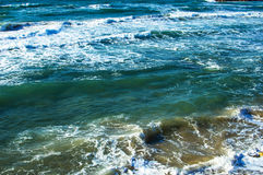 Texture - sea waves during Stock Image