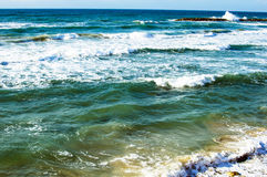 Texture - sea waves during Royalty Free Stock Photo