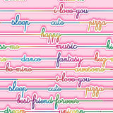 Texture - Seamless pattern -  multicolored bright letters on a pink background Stock Images