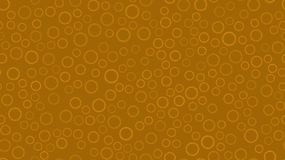 Texture seamless pattern of yellow round abstract carved metal beer caps with sharp edges for clogging beer bottles used in stock illustration