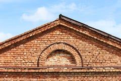 Texture semi-circular window in the old historic brick building. Texture semi-circular window in the old historic brick building stock photography