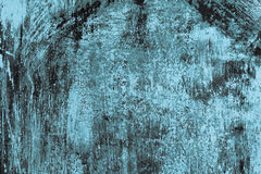 Texture Series - Blue Rusty Scratched Painted Metal Stock Photo