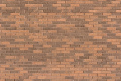 Texture Series - Brick Wall with Light and Dark Browns. Image showing a brick wall with variations in the brick colors from light to dark royalty free stock photo
