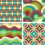 Texture set. Set of four colorful patterns Royalty Free Stock Photo