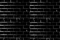 The texture of a shabby brick wall. Black and White Background stock illustration