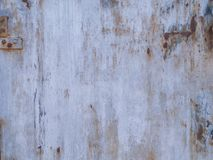Texture of shabby white painted metal surface with rust stock images