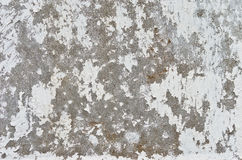 Texture shabby whitewash on a concrete wall Stock Image