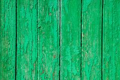 The texture of the shabby wooden green planks. royalty free stock photography