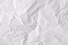 Texture sheet of crumpled paper. Texture crumpled sheet of white paper. Horizontal composition stock photography
