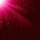 Texture with shining stars and rays. EPS 10 Royalty Free Stock Photography