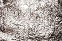 Texture of shiny aluminum foil close up Stock Photography