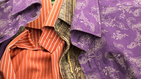 Texture - shirts of different colors Royalty Free Stock Photography