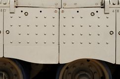 Texture of side skirt of Israeli Merkava Mark III tank Royalty Free Stock Image