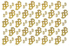 Texture of sign crypto currency of bitcoin on white background. Symbol BTC. Texture of sign crypto currency of bitcoin white background. Symbol BTC. Bitcoin Royalty Free Stock Photography