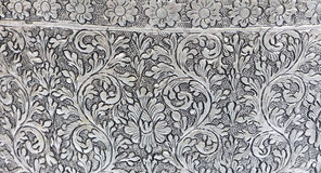 Texture  silver metal plate. Texture of silver metal plate art in thailand Royalty Free Stock Photo
