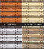 4 texture simple brickwork Royalty Free Stock Images