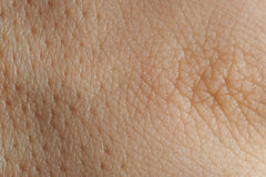 Texture of skin with pores. Close up texture of human skin with pores royalty free stock photo