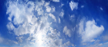 Texture sky clouds deep blue Royalty Free Stock Images