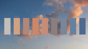 Texture sky and clouds at sunset. Colour palette swatches royalty free stock image