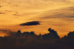 Texture sky and clouds at sunset Royalty Free Stock Photography