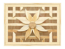 Texture of slat flower wall on wood Stock Photography
