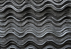 The texture of slate. A side view on the slate sheets stacked on each other Royalty Free Stock Image