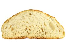 Texture of a slice of homemade bread Royalty Free Stock Photography